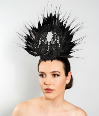 black-lace-and-goose-feather-headpiece
