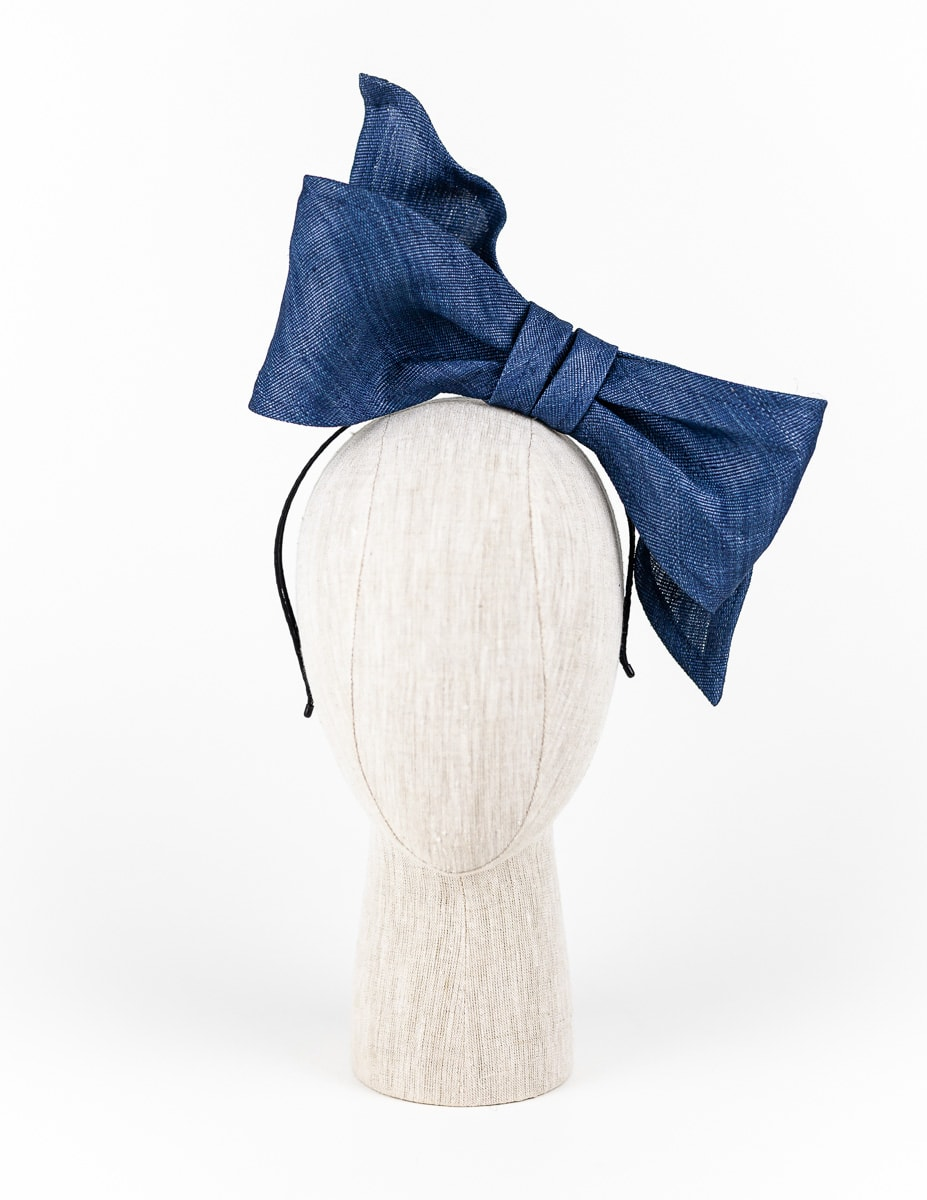 Denim blue tinalak bow