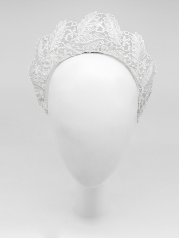 White leaf lace tudor crown $420