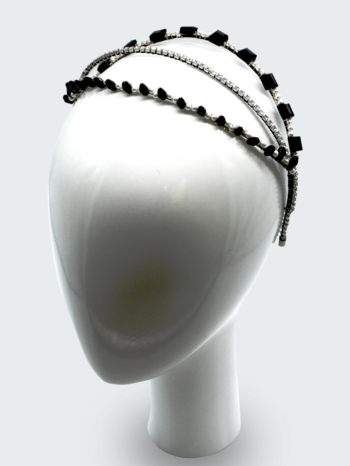 Swarovski  crystal  and  pearl  triple headband  $380